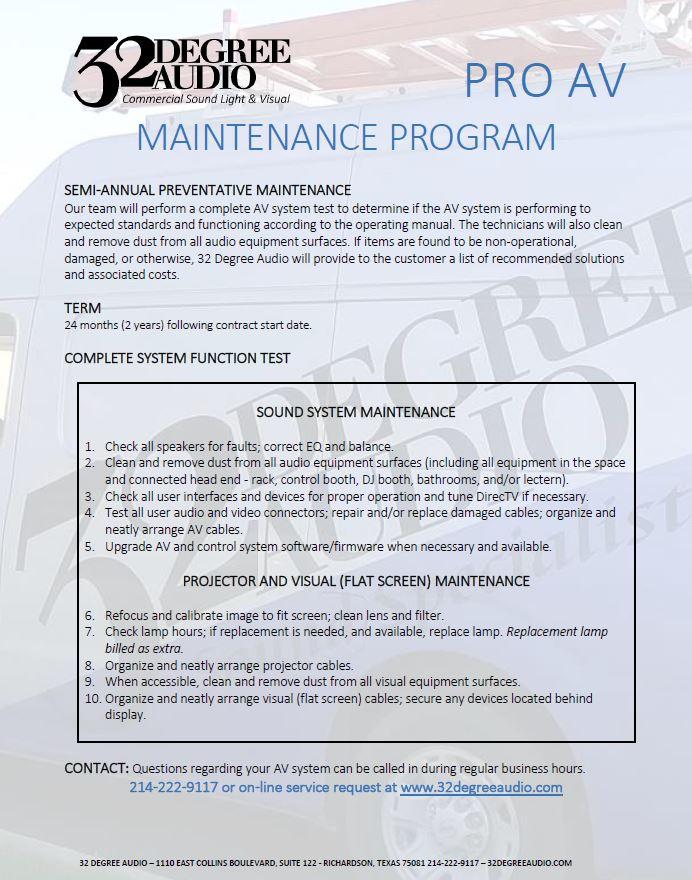 AV Service & Maintenance